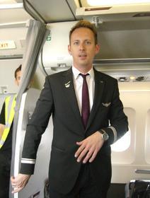 Rückflug von Ibiza mit Chefsteward René